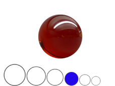 Jac Products Lava Red Translucent 75mm Acrylic Contact Ball